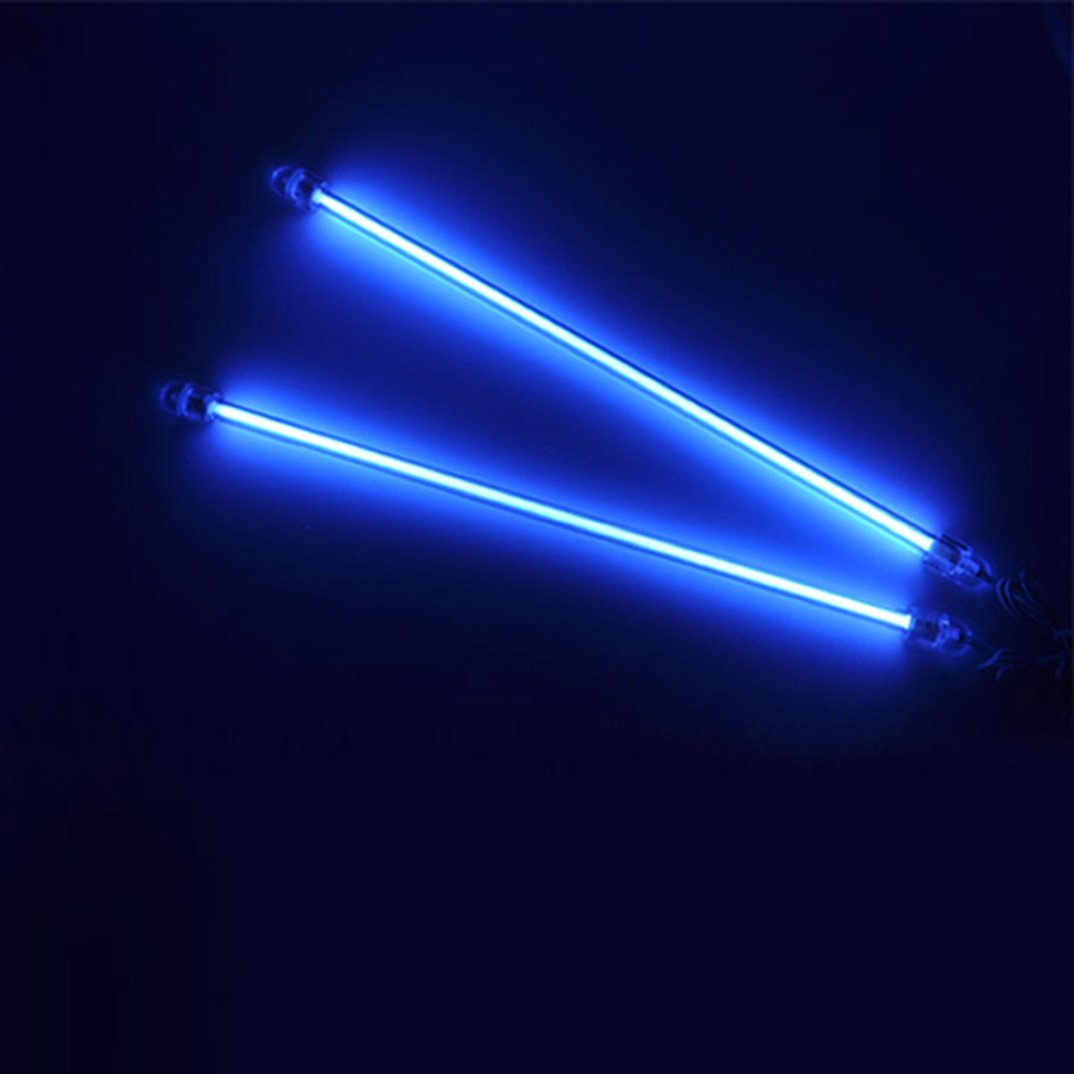 Neon Glow Blue Underbody Underglow Under Car Neon Light Kit Free Shipping